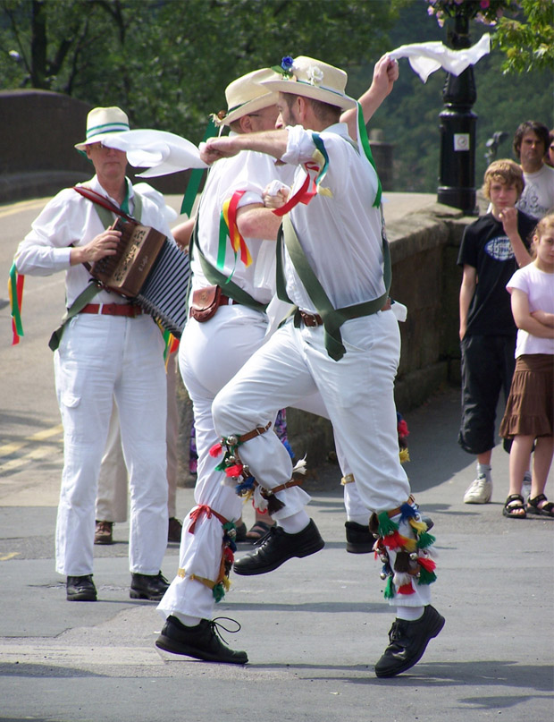 Morris Dancers in Harrogate (1) - M. Sowden