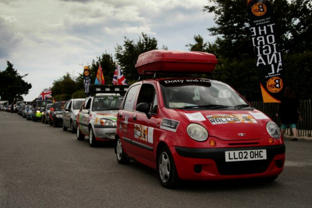 Fevered Mutterings image - Cars waiting to depart, Festival of Slow, Mongol Rally 2011 - Mike Sowden