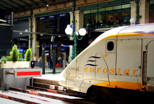 Eurostar at Gare du Nord, Paris, France
