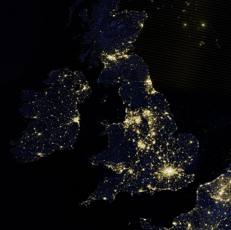 UK satellite photo